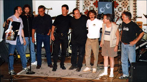 Various members of The Patron Saints at our September, 2000 reunion in Bedford, NY